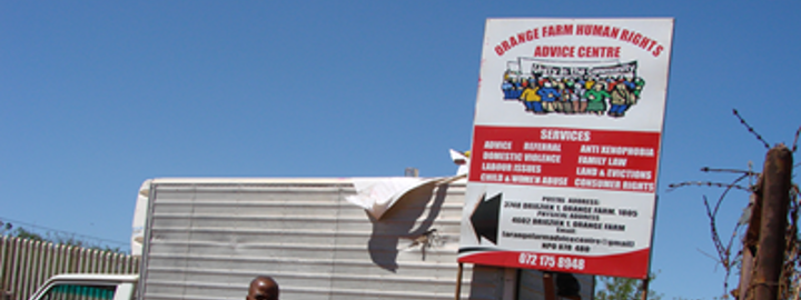 Orange Farm Human Rights Advice Centre 1