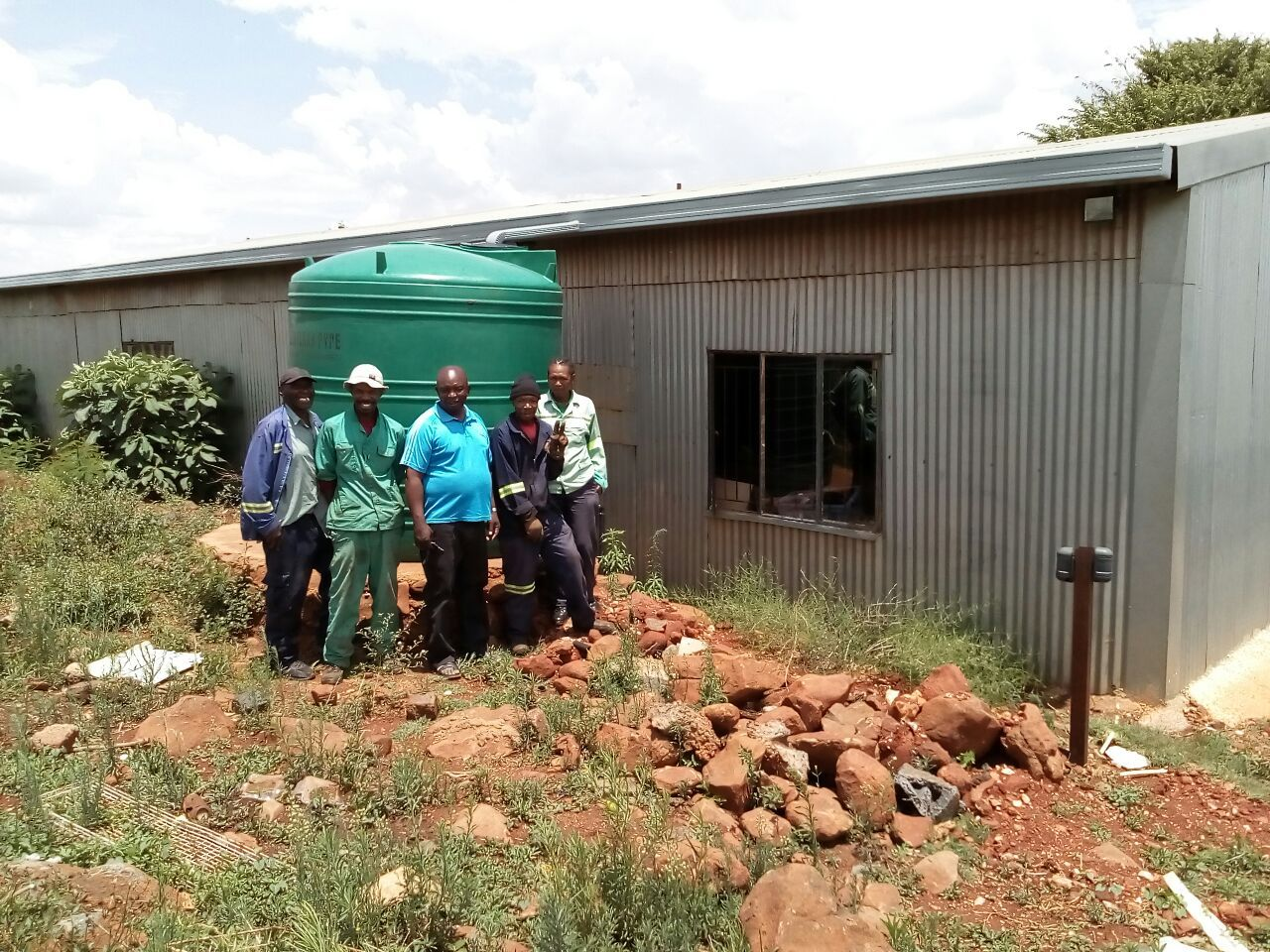 5 000 litre water tank's latest development